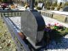 Кладбище «Bērzu», Елгава, лето 2019 г. Металлический крест, установленный на гранитном постаменте.