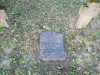 Немецкое лютеранское церковное кладбище в Сеце, волость Сецес, август 2019 г. Именная табличка-кенотаф на воинском захоронении.