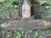 Немецкое лютеранское церковное кладбище в Сеце, волость Сецес, август 2019 г. Металлический крест с эпитафией:  Heinrich Hefselberg, pastor zu Setzen (1791-1848).