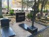 Кладбище «Meža», Елгава, лето 2019 г. Ажурный металлический крест на гранитном постаменте. Современное литьё.