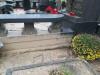 Raiņa kapi, Rīga, последствия некачественного монтажа надгробия Карлиса Рудевича (осень 2019)