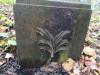 Кладбище «Vaiteņu», волость Вилцес, октябрь 2019 г. Сохранившийся металлический элемент памятника.
