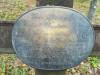 Кладбище «Vaiteņu», волость Вилцес, октябрь 2019 г. Латунная табличка на месте захоронения.