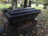 Большое кладбище, Рига, ноябрь 2019 г. Памятник-гроб из черного полированного гранита.