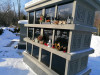 II лесное кладбище, Рига, февраль 2021 г. Первый в Латвии колумбарий.