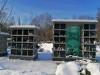 II лесное кладбище, Рига, февраль 2021 г. Первый в Латвии колумбарий. Центральная, 5-этажная секция.