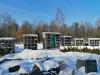 II лесное кладбище, Рига, февраль 2021 г. Первый в Латвии колумбарий. Общий вид.