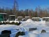 II лесное кладбище, Рига, февраль 2021 г. Первый в Латвии колумбарий. Общий вид правой части колумбария.