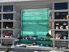 II лесное кладбище, Рига, февраль 2021 г. Первый в Латвии колумбарий. Декоративный элемент из цветного стекла. Производство фирмы Glasstone.