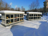II лесное кладбище, Рига, февраль 2021 г. Первый в Латвии колумбарий. 2-этажные секции колумбария.