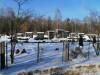 II лесное кладбище, Рига, февраль 2021 г. Первый в Латвии колумбарий. Вид на колумбарий со стороны улицы Гауяс.